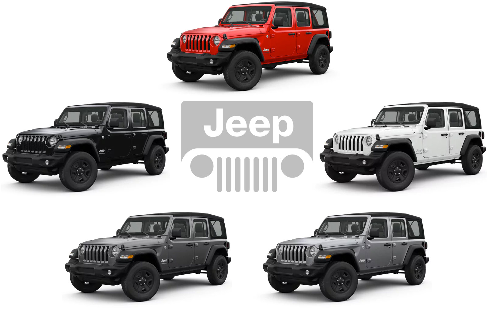 Circle of 5 Jeeps Unlimited model