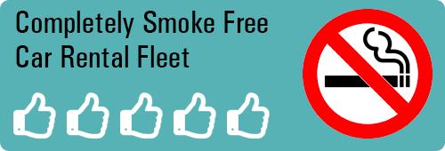 Smoke free car rental fleet