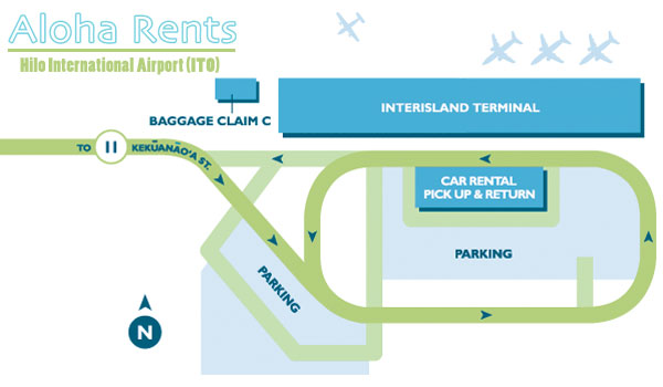Hilo Airport Map