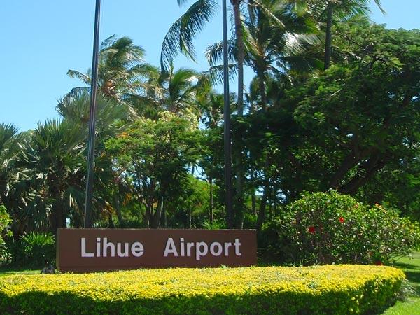 Sign at Lihue airport