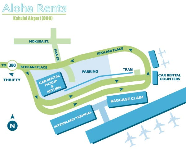 Maui Airport Map